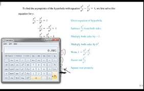 find the asymptotes of a hyperbola