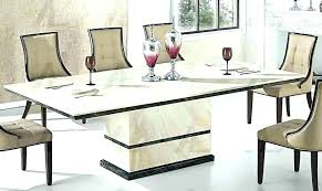 dining table set marble top round room tables black with