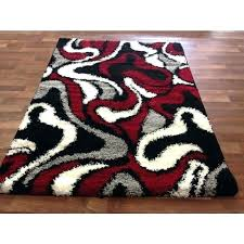 red black white rug furniture modern red black white pile cut design area rug carpet new intended for red black grey rugs
