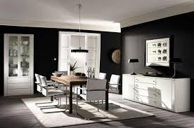 Interior:Fresh And Airy Living Room With Black Leather Sofa And White  Living Room Wall