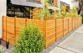 Holz Zaun Sichtschutz