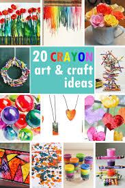 a roundup of tutorials to make crayon art crayon craftelted crayon art activities