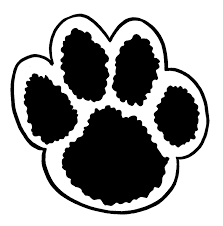 bulldog paw print outline. Exellent Outline White Tiger Paw Print  Clipart Library On Bulldog Outline