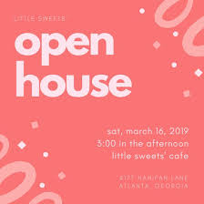 Invitation To Open House Customize 498 Open House Invitation Templates Online Canva