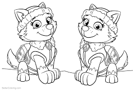 Paw Patrol Coloring Pages Everest Free Printable Coloring Pages