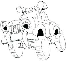 Cop Car Coloring Pages Designsloftco