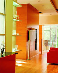 Orange Wall Paint Living Room Eye For Design Citrus Colored Interiors