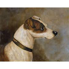 Jack Russell Terrier Dog Portrait Oil ...