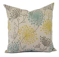 floral pillow shams. Beautiful Pillow Yellow Blue And Beige Floral Pillow Shams  Covers  Linen Cases Inside O