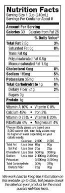silk unsweetened vanilla almondmilk nutrition label
