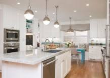 lighting above kitchen island. They Not Only Give You The Right Illumination That Allows To Get Work Done On Kitchen Countertop, But Also Act As Great Décor Additions Even Lighting Above Island