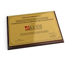Наградные дипломы благодарности сертификаты на плакетке Х  Изготовление дипломов на металле