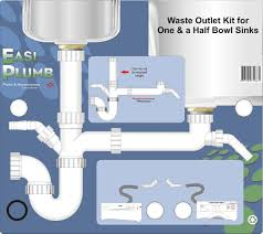 Easi Plumb Waste Outlet Kit For One And A Half Bowl Sink 15in