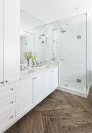 wood floor tiles bathroom. Master Bathroom With Herringbone Wood Floor Marble Shower And Countertops White Cabinets Double Tile. Tiles 3