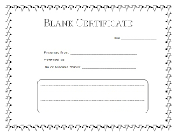 Blank Birth Certificate Template Simple Blank Certificate Templates Kiddo Shelter