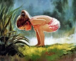 18 Painting Wallpaper - Girl Looking At ...