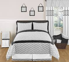 window valance for black and gray zig zag chevron bedding collection by sweet jojo designs only 21 99