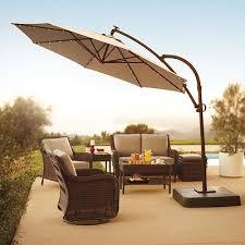 sonoma outdoors crank and tilt lighted offset cantilever umbrella