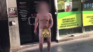 Why was man walking down Dale Street NAKED apart from his socks.