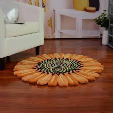 excellent sunflower shaped fl small area rug rugs small within sunflower area rug ordinary