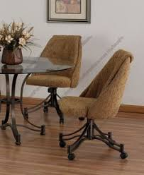 casual dining chairs with casters: tempo industries denver swivel amp tilt dining chair with casters