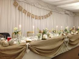 top table decoration ideas. Amazing Top Table Wedding Decoration Ideas Meal Rustic Marquee Ivory Natural Hessian Bunting R