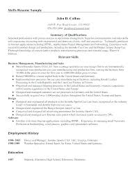 Skill Resume Examples Examples Of Work Skills For A Resume Top ...