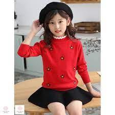 Áo len cho bé gái 7 tuổi (3-10 tuổi) ☑️ Quần áo cho bé gái 9 tuổi ☑️ Thời  trang bé gái 3 tuổi ☑️
