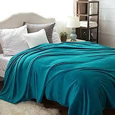 Peacock Blue Throw Blanket