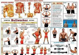 Bullworker Classic Exercise Chart Bullworker Steel Bow With Chart Case 69 95 Picclick