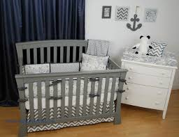navy and grey nautical crib bedding with chevron and world nautical