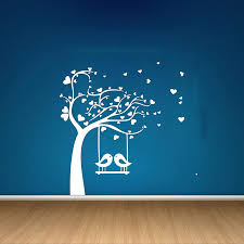 creative wall stickers for blue walls
