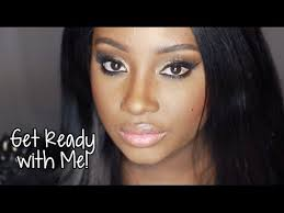 get ready with me the golden beat makeup