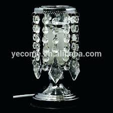 table top chandelier tall and large crystal