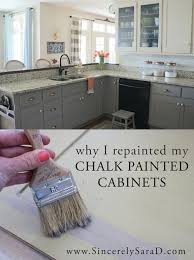 refinishing kitchen cabinets diy awesome why i repainted my chalk painted cabinets