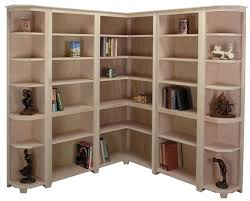 above brown unfinished shaker corner bookcase standard bookcases and end for more details on this