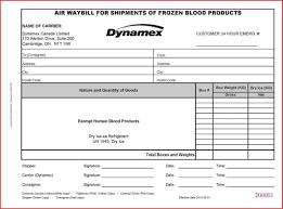 Airway Bill Template Fedex International Air Waybill Sample Example
