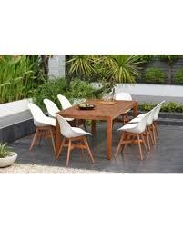 amazonia hawaii white 9piece rectangular sidechair patio dining set furniture 9 piece patio dining set93