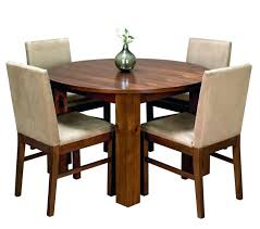 black wood round dining table solid wood round seat dining table with knotty bold legs furniture