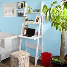 Sobuy Frg60 W Wandregal Leiterregal Standregal Schreibtisch Bücherregal Mit Arbeitstischplatte