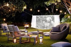 Small Picture Take Movie Night Outdoors Garden Design Ideas Garden Ideas