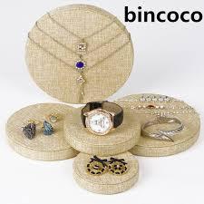 Circular Display Stands Inspiration Bincoco Circular Shape Display Stand For Jewelry Five Stand Display