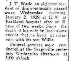 John T. Wade (1853-1929) - Find A Grave Memorial