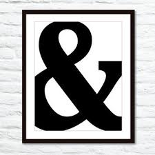 ampersand symbol typography digital print black and white m