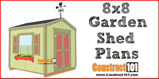 garden shed plans 8 8 step by step