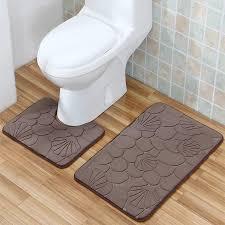 bathroom mat set 2pcs geometric embossing pattern bathroom rug non slip bath mat modern bathroom floor mat 50x80cm 40x50cm