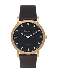 the best black leather strap watches in store now the idle man shore projects st ives watch black men