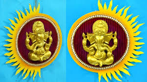 diy crafts how to make ganpati wall hanging ganpati decoration at home easy best out of waste