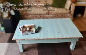 free uk country cottage rustic reclaimed wood coffee table duck egg blue with copper tacks rustic copper edging handmade to order