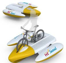Amphibious Bike Becomes A Raft To Pedal Boat On Waterways Http